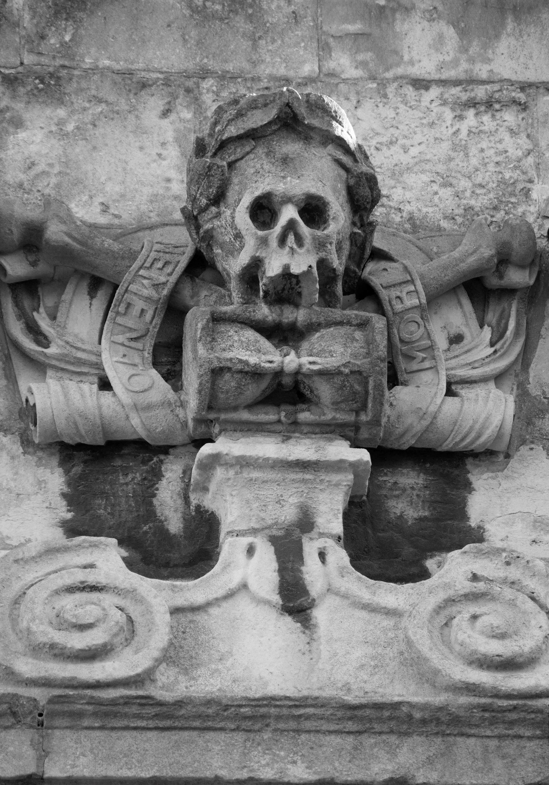 Black & White Photograph titled memento-mori