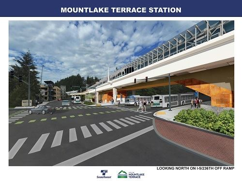 Sound Transit Mountlake Terrace Station Drawing
