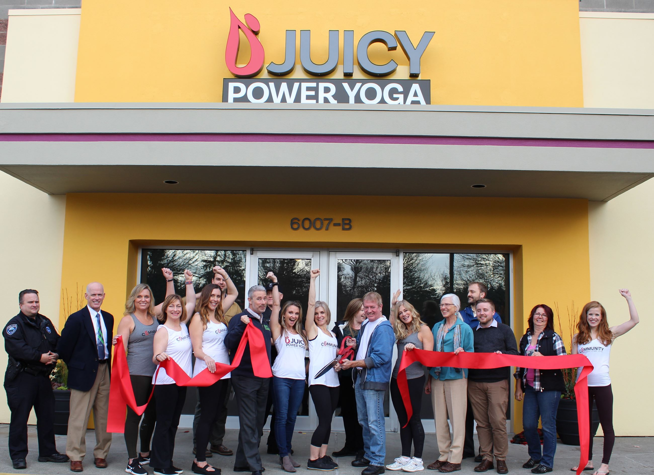 Juicy Power Yoga Ribbon Cutting Event
