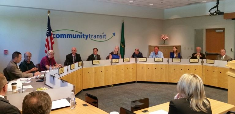 Community Transit Board of Directors with Mayor Smith