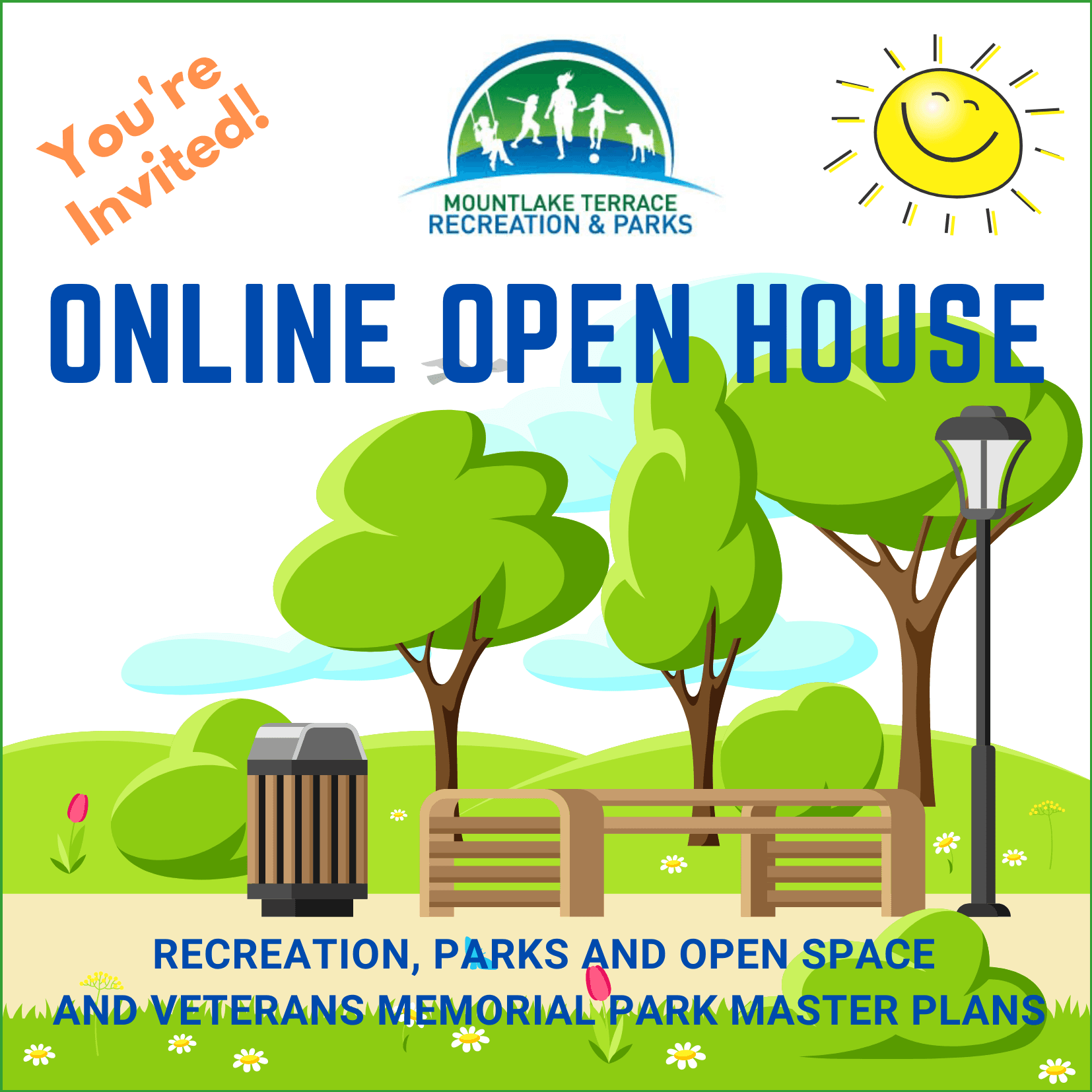 Online Open House for Recreation, Parks and Open Space and Veterans Park Master Plans