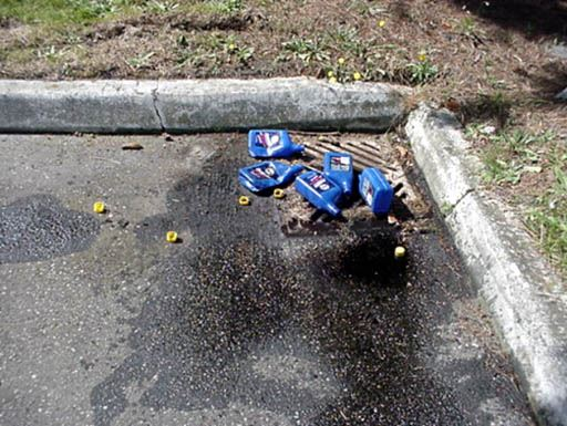 Litter in Sewer Drain