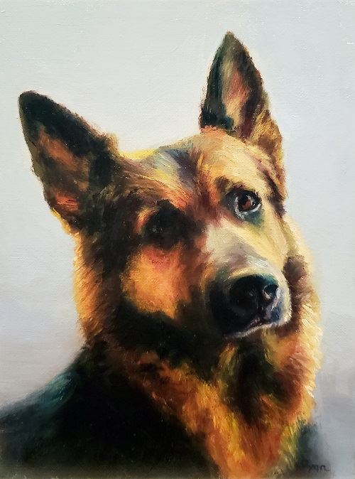 Painting of German Shepherd Named Penelope