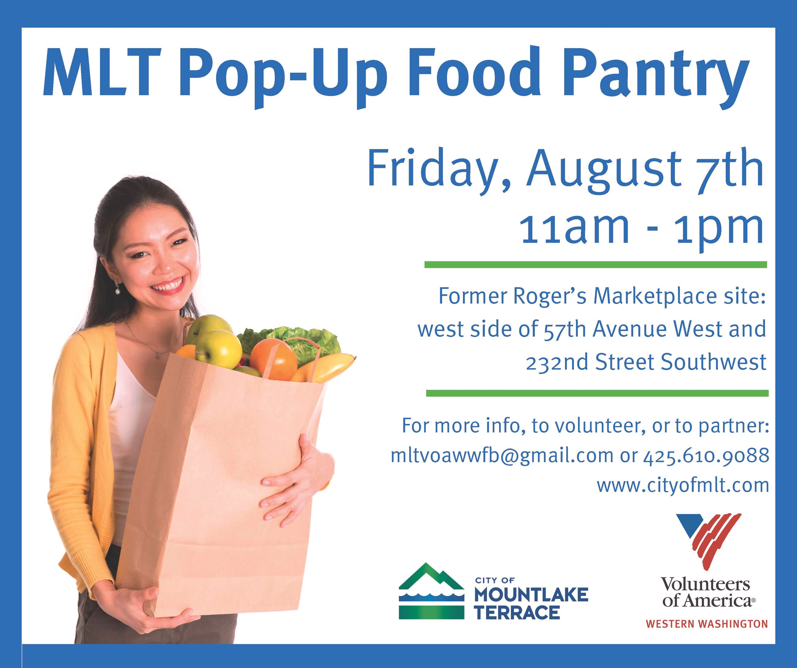 Pop Up Food Pantry Event Flyer