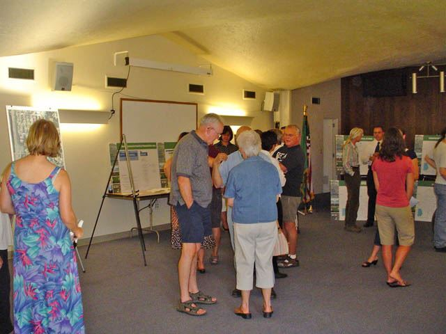People chat at Open House