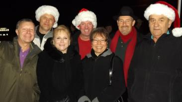 Community members enjoying the 2012 Tree Lighting Ceremony